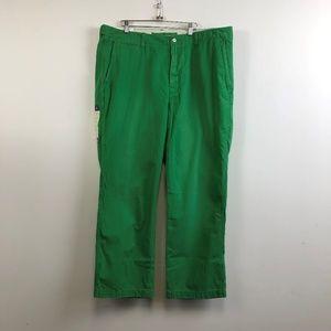 NWT Polo Ralph Lauren Green Chino Flat Front Pants